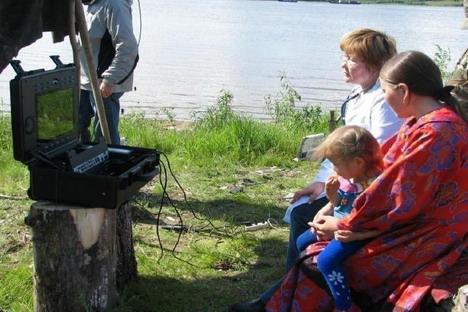 Escena de teleconsulta con zonas rurales en Rusia (Imagen cortesía de Dr. V.Stolyar y Dr. A.Panfilov  de  Russian Telemedicine Association y Tradition Group Ltd.)