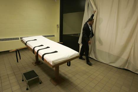 Mesa de la inyección letal. Fuente: AP