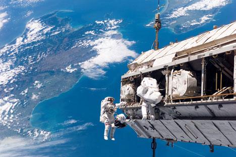 Expedição à ISS com astronautas americanos Foto: Nasa