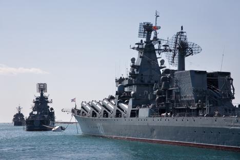 La semana pasada se anunció que la Marina realizará los mayores ejercicios de adiestramiento en la zona . Fuente: ITAR-TASS