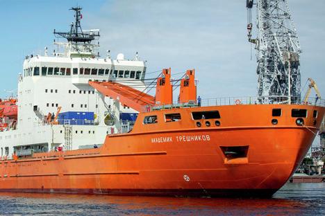 En su primer viaje a la Antártida hizo escala en la capital uruguaya. Durante una jornada de puertas abiertas los uruguayos pudieron conocer el barco. Fuente: Admiralty Shipyards
