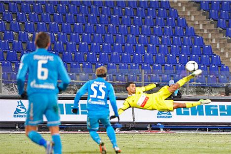 La media de espectadores de la liga rusa es de 12.833 por partido. Fuente: rus.rfpl.org