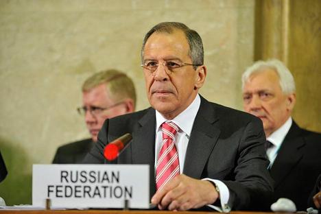 Serguéi Lavrov, Ministro de Asuntos Exteriores de Rusia. Fuente: flickr / UN Photo / Jean-Marc Ferre