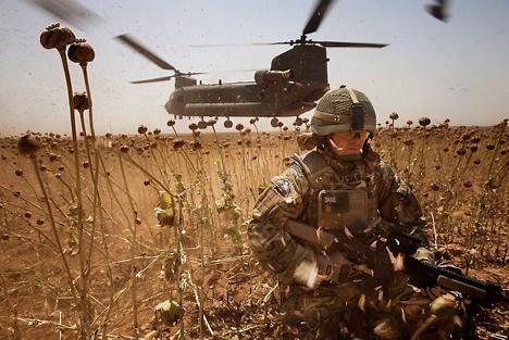 Principalmente desde Afganistán, la producción atraviesa Asia Central hasta llegar a Rusia y Europa. Fuente: Flickr / antsz1