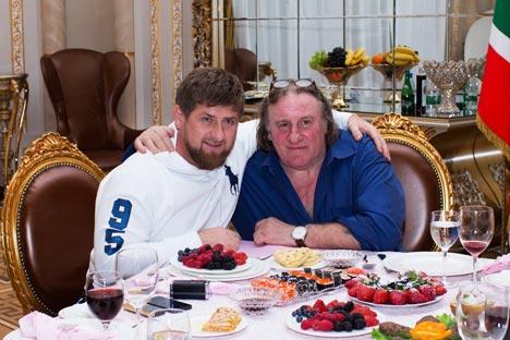 """""""Es una visita a un amigo"""", ha dicho Depardieu sobre su reunión con Ramzán Kadírov, presidente de Chechenia. Fuente: Reuters"""