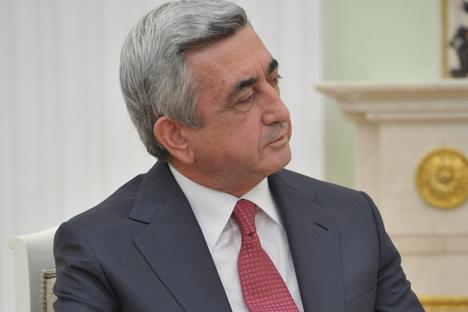 El presidente armenio Serzh Sargsián. Fuente: ITAR-TASS