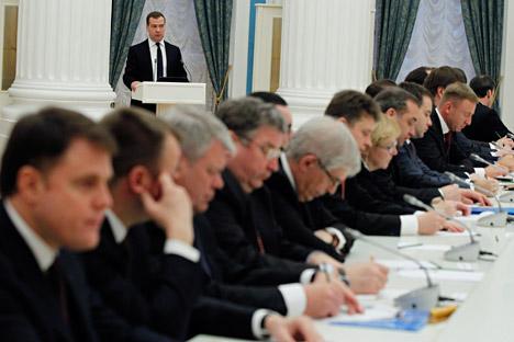 Medvedev se tornou primeiro-ministro em maio de 2012 depois de seu antecessor, Vladímir Pútin, assumir a presidência do país Foto: ITAR-TASS