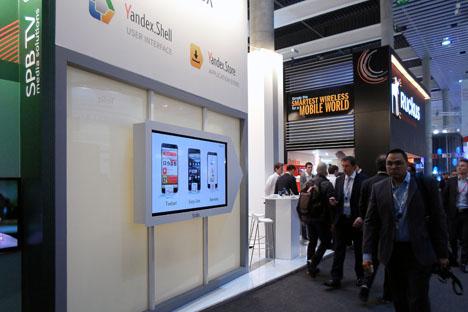 Stand de Yandex en el Mobile World Congress. Fuente: Maite Montroi