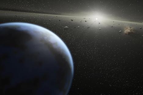 La Tierra está rodeada por numerosos asteroides.Fuente: NASA/JPL-Caltech/T.Pyle (SCC).
