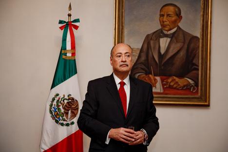 El Embajador Extraordinario y Plenipotenciario Rubén Beltrán.  Fuente : Ruslán Sujushin.
