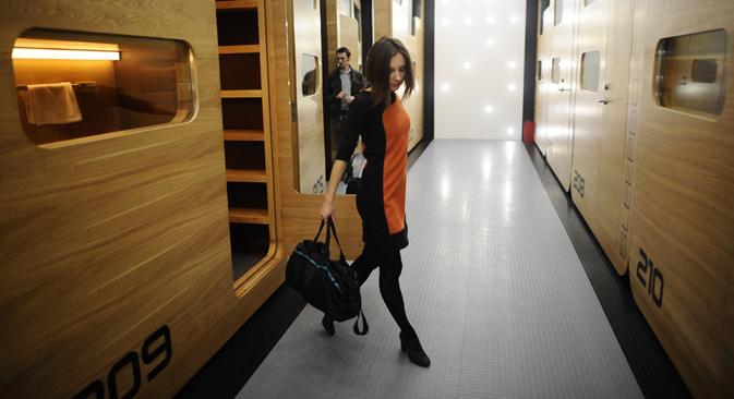 Abre en la capital rusa el hotel 'Sleepbox', habitaciones minúsculas para estancias breves. Fuente: ITAR-TASS