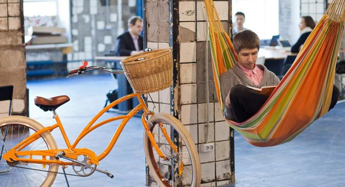 Zonaspace, el espacio de coworking más grande de San Petersburgo.
