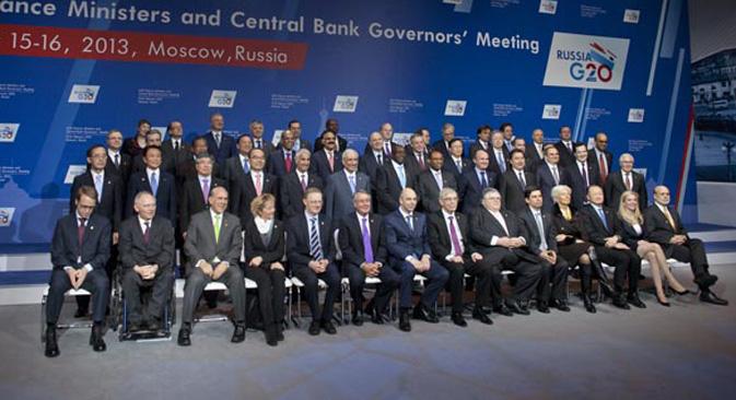 Foto de familia de los ministros de Finanzas y gobernadores de bancos centrales en el G20. Fuente: Ricardo Marquina Montañana.