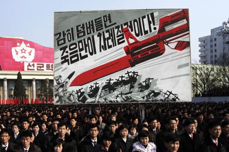 La reciente sanción del Consejo de Seguridad de la ONU ha provocado una reacción política en Corea del Norte que eleva la tensión en la zona. Fuente: AP