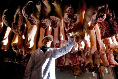A Rússia está considerando a hipótese de decretar embargo à carne espanhola Foto: Kommersant