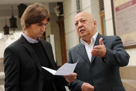Serguéi Filin, director arístico del Teatro Bolshói, y Anatoli Iksanov, director general del teatro.Fuente: RIA Novosti