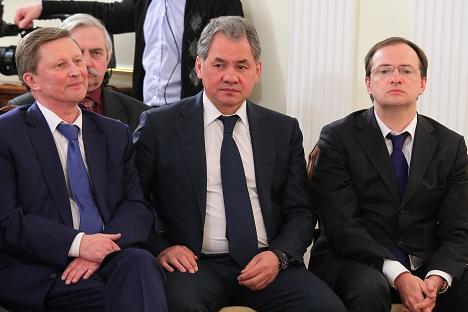 Membros da SHMR se reuniram com Vladímir Pútin e autoridades na residência presidencial em Novo-Ogarevo. Foto: RIA Nóvosti