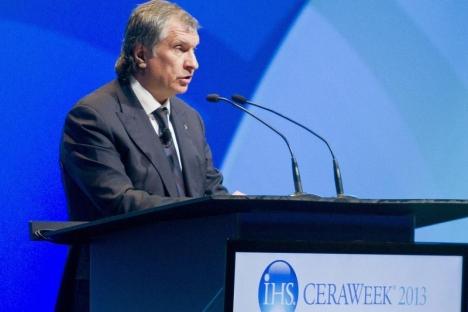 El jefe de la petrolera rusa ROSNEFT, Ígor Sechin. Fuente: Reuters