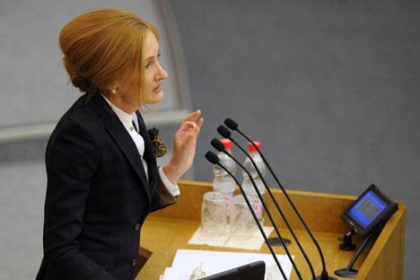 El escándalo que envuelve a Irina Iarovaya, presidente de la comisión de la Duma encargada de la lucha contra la corrupción, empezó cuando un artículo en The New Times reveló que vivía en un apartamento de lujo en pleno centro de Moscú.Fuente:TASS