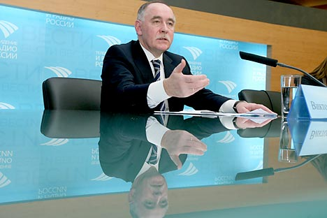 Víctor Ivanov, director del Servicio Federal de Estupefacientes de Rusia, explica los principales retos y problemas del país en esta materia. Fuente: ITAR-TASS
