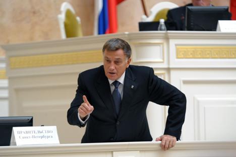 Viatcheslav Makarov, presidente da Assambléia Legislativa de São Petersburgo. Foto: Kommersant