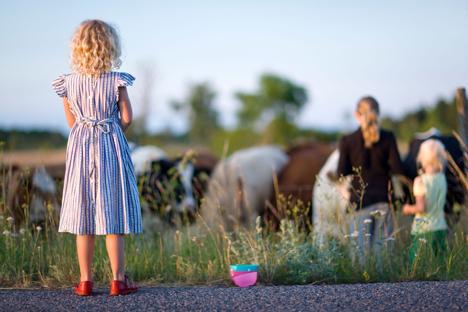Conocemos una familia de acogida que vive en una granja de la región de Kaluga. Fuente: Alamy / Legion Media