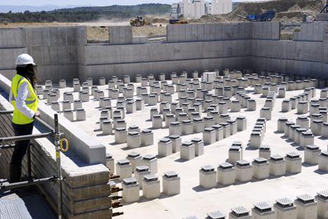 La construcción de una nueva central nuclear. Fuente: AFP