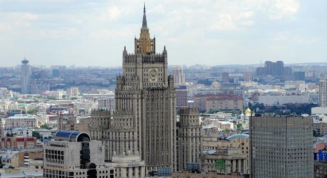 El Miniserio de Asuntos Exteriores de Rusia. Fuente: ITAR-TASS