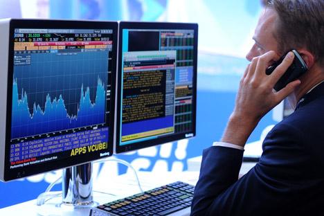 La semana pasada el mercado de valores ruso registró los peores resultados del último año y medio. Fuente: Alexéi Filípov / Ria Novosti