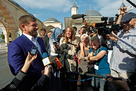 Presidente de la región y de facto del club Terek Grozni, es uno de los personajes más heterodoxos del balompié ruso. Fuente: ITAR-TASS