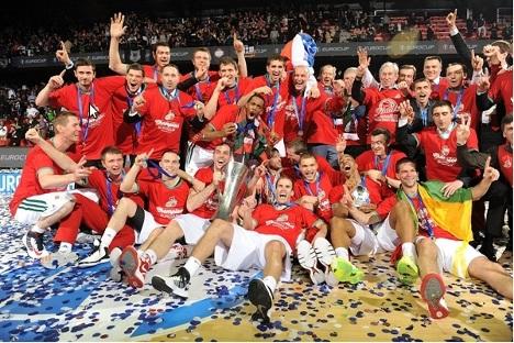 El Lokomotiv Kuban ganó el primer título continental de su historia. Fuente: Eurocupbasketball.com.