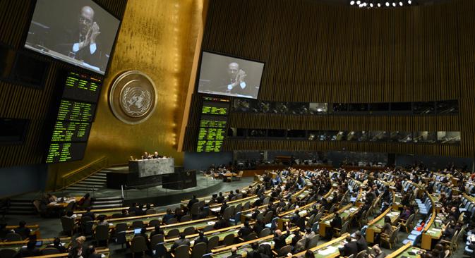 La Asamblea General de la ONU aprobó el Tratado Internacional sobre el Comercio de Armas. Fuente:  AFP / East News