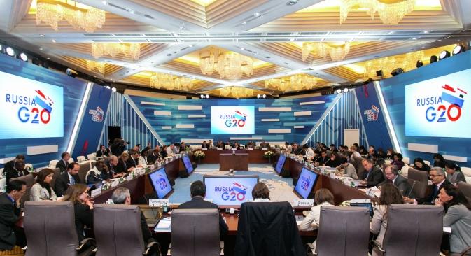 El objetivo es la toma de decisiones preliminares sobre los principales problemas de la economía global. Fuente: Centro de prensa del G20