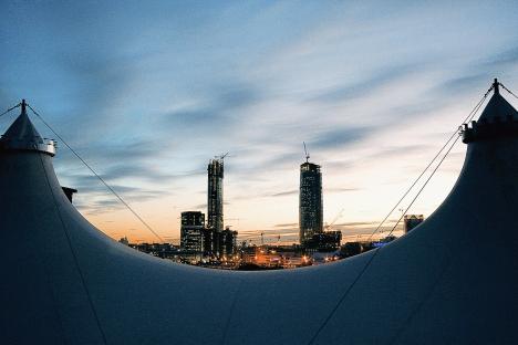 """Vista de """"Moskva-city"""", centro de negocios de la capital. Fuente: RIA Novosti / Tatyana Gritsaieva"""