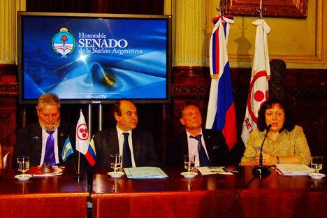 Inauguración de la exposición en el Senado del Congreso Argentino. Fuente: Ana Nóvikova
