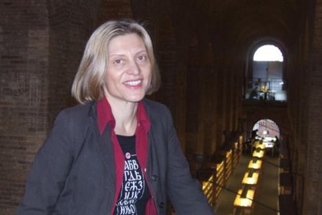 Tamara Djermanovic, directora del Seminario de Estudios Eslavos de la  Universitat Pompeu Fabra. Fuente: Albert Padrol