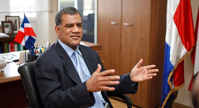 Jorge Luís Pérez Alvarado, embajador de la República Dominicana. Fuente: Ruslan Sujushin