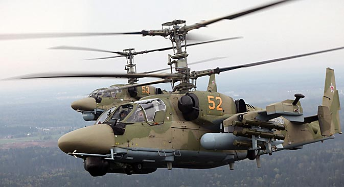 """Helicóptero de ataque Ka-52 """"Alligator"""". Fuente: Snake Eyes"""