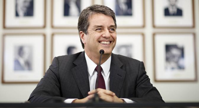 Diplomata brasileiro Roberto Azevêdo é o novo diretor-geral da OMC Foto: Reuters