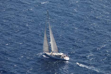 """El velero """"Scorpius"""" durante su expedición. Fuente: Servicio de prensa"""
