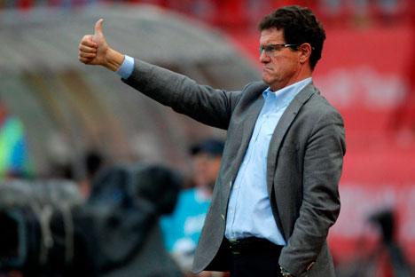 Fabio Capello, el entrenador de la selección nacional rusa de fútbol. Fuente: AP