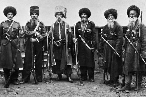 Os cossacos lutaram na guerra contra o Japão e na Primeira Guerra Mundial Foto: RIA Nóvosti