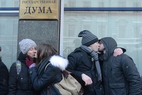 La medida recién aprobada en la Duma indigna a los activistas pero cuenta con amplio respaldo social. Fuente: RIA Novosti