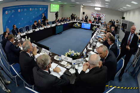Tanto Fórum de São Petersburgo como cúpula Juventude do 20 estão abordando questões que serão exploradas a fundo na próxima cúpula do G20 Foto: RIA Nóvosti