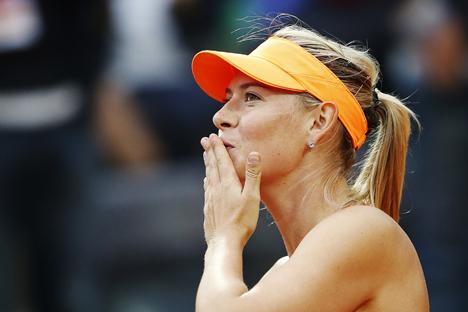 "Sharapova lançou a marca de doces ""Sugarpova"" no ano passado Foto: Reuters"