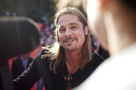 """Brad Pitt abriu o evento com seu novo filme """"Guerra Mundial Z'. Foto:  Elena Potchétova"""