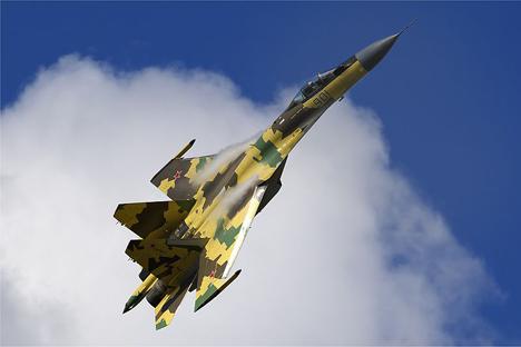 El avión de combate más avanzado de Rusia se presentó por primera vez fuera del país. Fuente: wikipedia / Airliners.net / Oleg Belyakov