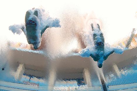 Rusia queda segunda en salto en el 15º Fina  Campeonato del Mundo de Natación. Fuente: AP