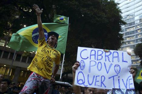 Las protestas en Brasil. Fuente: Reuters