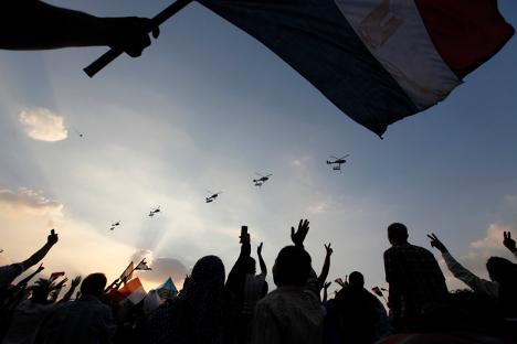 Los opositores celebraron la destitución de Morsi. Fuente: Reuters.